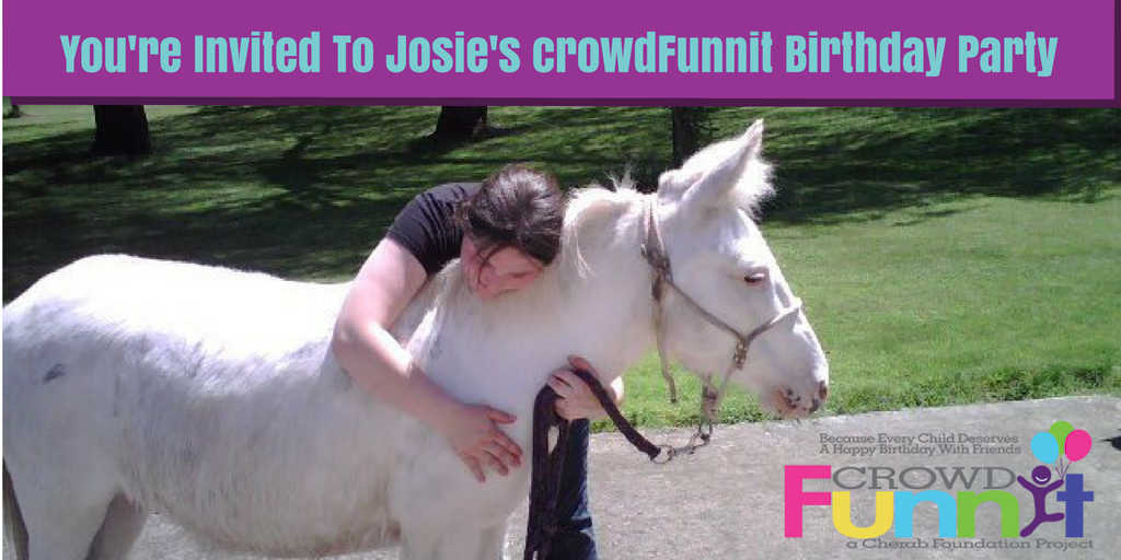 You're Invited To Josie's crowdFunnit Birthday Party