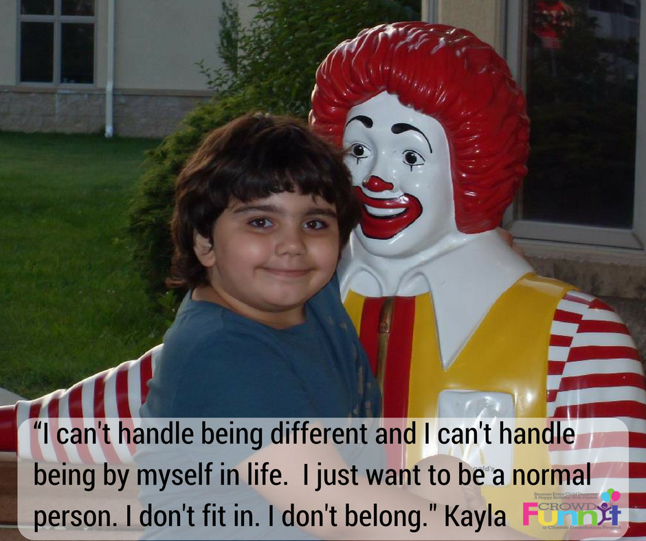 """I can't handle being different and I can't handle being by myself in life. I just want to be a normal person. I don't fit in. I don't belong (1)"