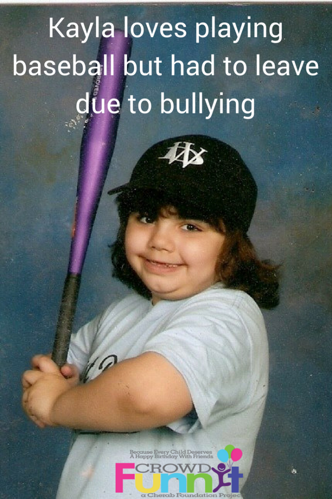 Kayla loves playing baseball but had to leave due to bullying