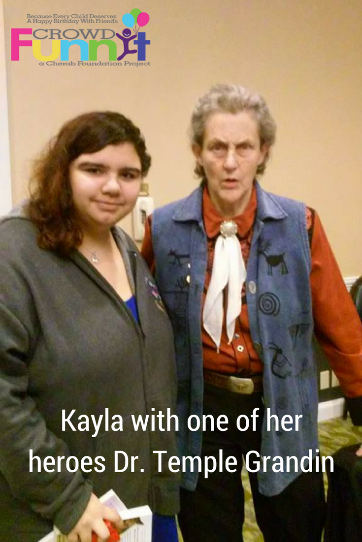 Kayla with one of her heroes Dr. Temple Grandin
